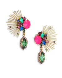 Erickson Beamon - Multicolor Telepathic Crystal Marquis Spray Drop Earrings - Lyst