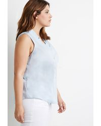 Forever 21 | Blue Classic Collared Shirt | Lyst