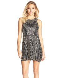Parker Black - Black 'allegra' Embellished Silk Shift Dress - Lyst