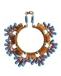 Kirsty Ward | Blue Wire Looped Round Necklace With Crystals - Last One | Lyst