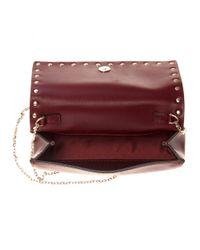 Valentino - Red Rockstud Leather Shoulder Bag - Lyst