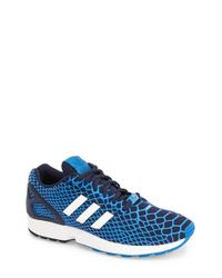 Adidas | Blue 'Zx Flux Techfit' Sneaker for Men | Lyst