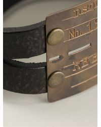 DSquared² - Black Etched Logo Cuff for Men - Lyst