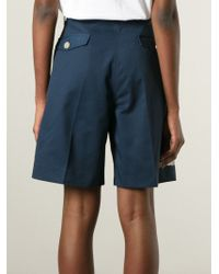 Acne Studios - Blue Knee Length Short - Lyst