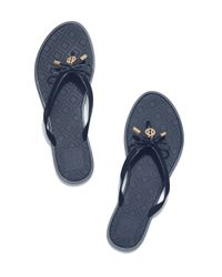 Tory Burch - Blue Jelly Bow Thong Sandal - Lyst
