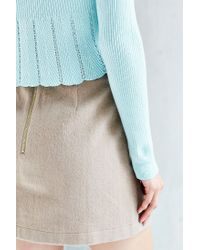 Kimchi Blue - Blue Pointelle Babydoll Sweater - Lyst