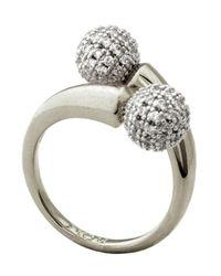 Noir Jewelry   Metallic Dee Pave Ring   Lyst