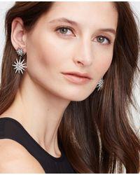 Ann Taylor - Metallic Starburst Chandelier Earrings - Lyst