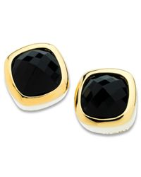T Tahari | Metallic 14k Gold-plated Faceted Jet Crystal Stud Earrings | Lyst