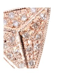 Jacquie Aiche - Pink 14kt Rose Gold Single Triangle Necklace with White Diamonds - Lyst