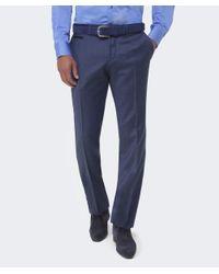 BOSS Blue Wilhelm Wool Trousers for men