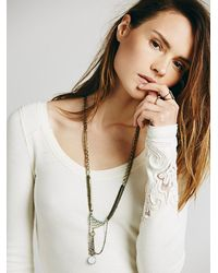 Free People | Brown Dreamer Stone Pendant | Lyst