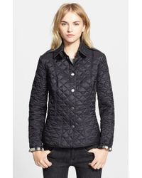 Burberry Brit | Black 'kencott' Patch Pocket Quilted Coat | Lyst