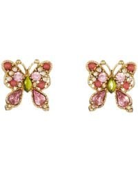 Betsey Johnson | Metallic Spring Glam Butterfly Button Earrings | Lyst
