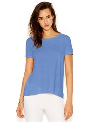 RACHEL Rachel Roy | Blue Short-sleeve Split-back Blouse | Lyst