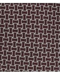 Reiss | Purple Carlos Patterned Silk Tie for Men | Lyst