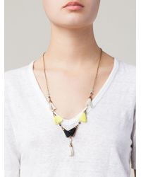 Isabel Marant | Yellow Tassel Detail Necklace | Lyst