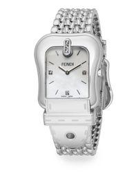 Fendi | Metallic B. Stainless Steel Buckle Watch | Lyst
