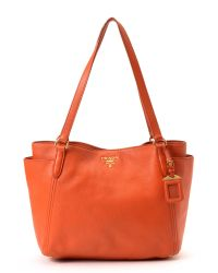 Prada - Orange Tote - Vintage - Lyst
