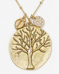 Sequin - Metallic Tree Of Life Necklace 18 - Lyst