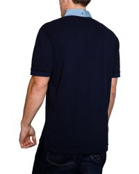 Raging Bull | Blue Chambray Plain Regular Fit Polo Shirt for Men | Lyst