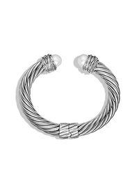 David Yurman | Metallic Crossover Pearl Bracelet | Lyst