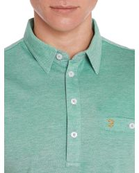Farah - Green Tennyson Regular Fit Mercerised Cotton Polo Shirt for Men - Lyst