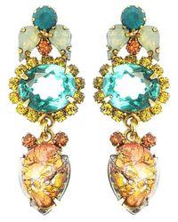 Elizabeth Cole | Metallic Everdeen Earrings, Opal | Lyst