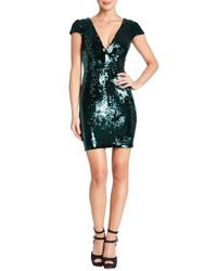 Dress the Population | Green Zoe Sequin Minidress | Lyst