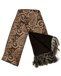 Black.co.uk | Metallic Regale Silk Satin Dress Scarf With Hand Knotted Tassels Description Delivery & Returns Reviews for Men | Lyst