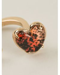 Marc By Marc Jacobs - Metallic Heart Detail Ring - Lyst