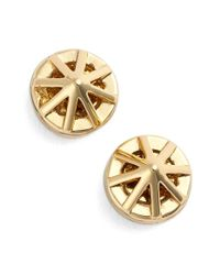 Rebecca Minkoff | Metallic Caged Button Earrings | Lyst
