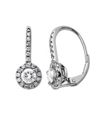 Lord & Taylor | Metallic Diamond Earrings In 14 Kt. White Gold 1.0 Ct. T.w. | Lyst