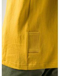 Julien David | Yellow Round Neck T-Shirt for Men | Lyst