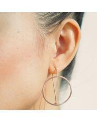 Dutch Basics - Metallic Waves Earrings Rose Gold - Lyst