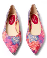 French Sole | Purple Emerald Bay Printed Penelope Flats | Lyst