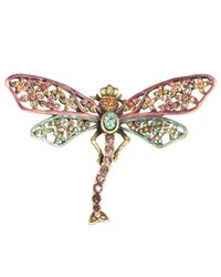 Jay Strongwater | Multicolor Floral Dragonfly Pin | Lyst