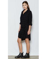 Current/Elliott - Black The Twist Shirt Dress - Lyst