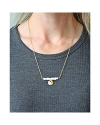 Spectrum | Metallic Stone Bar Necklace | Lyst