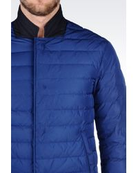 Armani | Blue Down Jacket In Technical Fabric for Men | Lyst