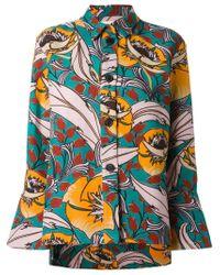 Marni - Multicolor Floral Shirt Jacket - Lyst