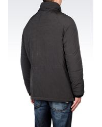 Armani Jeans | Green Hooded Pea Coat In Technical Fabric for Men | Lyst