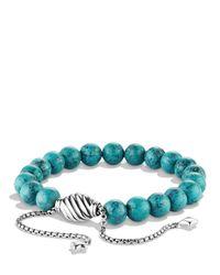 David Yurman | Metallic Spiritual Beads Bracelet With Turquoise | Lyst
