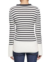 Alexander McQueen - Blue Asymmetric Striped Crewneck Sweater - Lyst