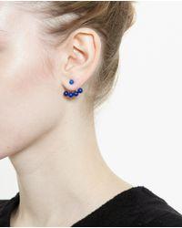Yvonne Léon - Blue 18K Yellow Gold And Lapis Lazuli Lobe Earring - Lyst