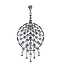 Bochic | Blue Sapphire and Diamond Peacock Pendant | Lyst
