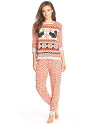 Kensie | Orange 'arctic Chill' Knit Pajamas | Lyst