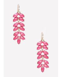 Bebe | Metallic Petal Drop Earrings | Lyst