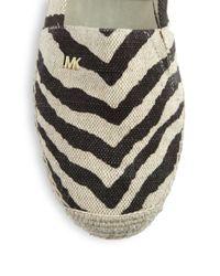 MICHAEL Michael Kors - Natural Zebra-Print Canvas Espadrilles - Lyst