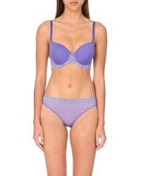 Wacoal | Lace Mesh Bikini Briefs, Women's, Size: Xl, Blue Iris | Lyst